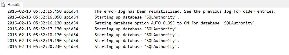 SQL SERVER - Starting Up Database - Why Multiple Times in Errorlog? startingup-01