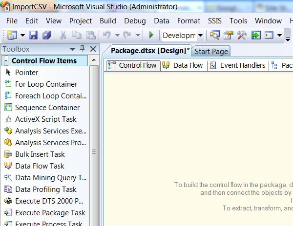 SQL SERVER - Import CSV File into Database Table Using SSIS import2