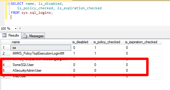 SQL SERVER - Auditors, Passwords and Exceptions - Notes from the Field #010 Checking_SQL_Logins_by_Query