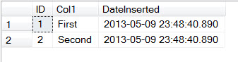 SQL SERVER - Adding Column Defaulting to Current Datetime in Table DateInserted2