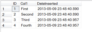 SQL SERVER - Adding Column Defaulting to Current Datetime in Table DateInserted3