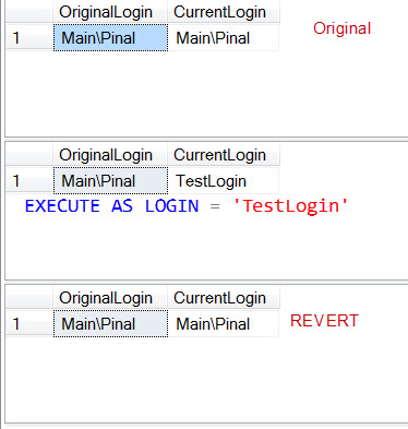 SQL SERVER - Difference Between ORIGINAL_LOGIN() and SUSER_SNAME() ExecuteAsLogin
