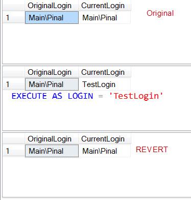 SQL SERVER - Difference Between ORIGINAL_LOGIN() and SUSER_SNAME() ExecuteAsLogin