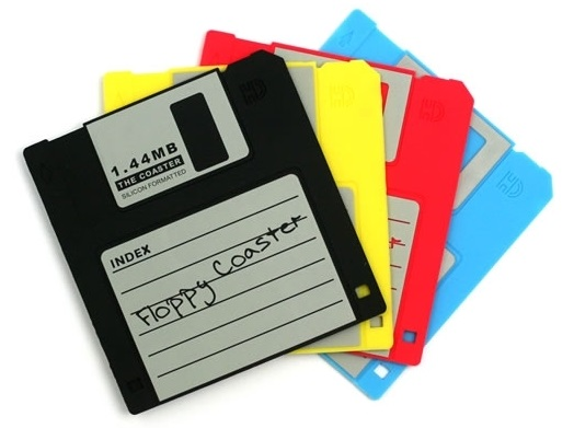 Personal Technology - From Floppy to CD, DVD to USB Drive - Quick Note on Evolution of Personal Storage Device Floppy-Disk-Coasters