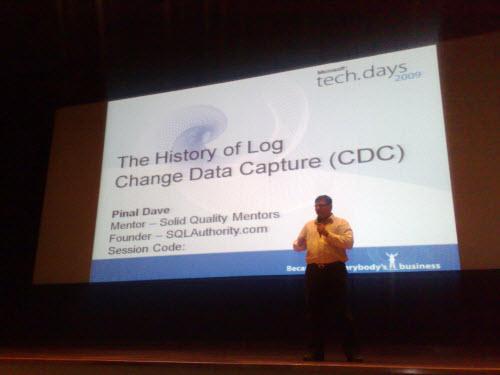 SQLAuthority News - TechDays Session at Infosys Mysore 2009 - Change Data Capture and PowerPivot infosys1