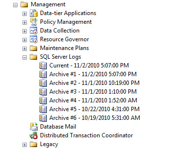 SQL SERVER - Recycle Error Log - Create New Log file without Server Restart SP_CYCLE_ERRORLOG1
