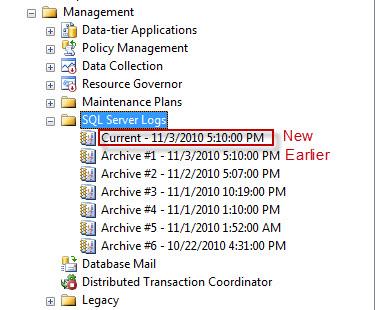 SQL SERVER - Recycle Error Log - Create New Log file without Server Restart SP_CYCLE_ERRORLOG2