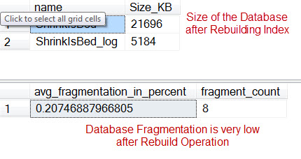 SQL SERVER - Shrinking Database is Bad - Increases Fragmentation - Reduces Performance ShrinkFrag3