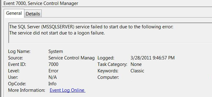 SQL SERVER - Fix : Error : The request failed or the service did not respond in a timely fashion StartError1