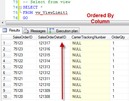 SQL SERVER – ORDER BY Does Not Work – Limitation of the Views Part 1 ViewLimit3