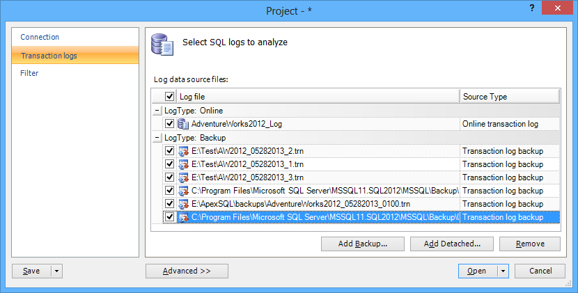 SQL SERVER - Auditing and Profiling Database Made Easy with ApexSQL Trigger and ApexSQL Audit image013