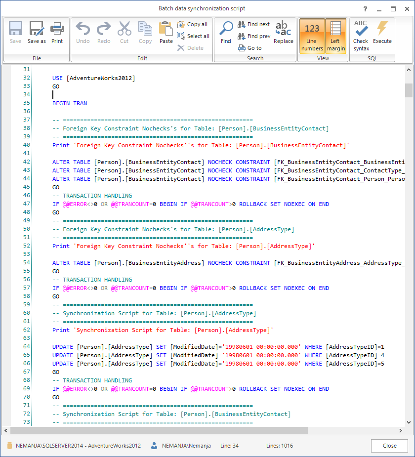 SQL SERVER - SQL Server Data Compare Tool 19