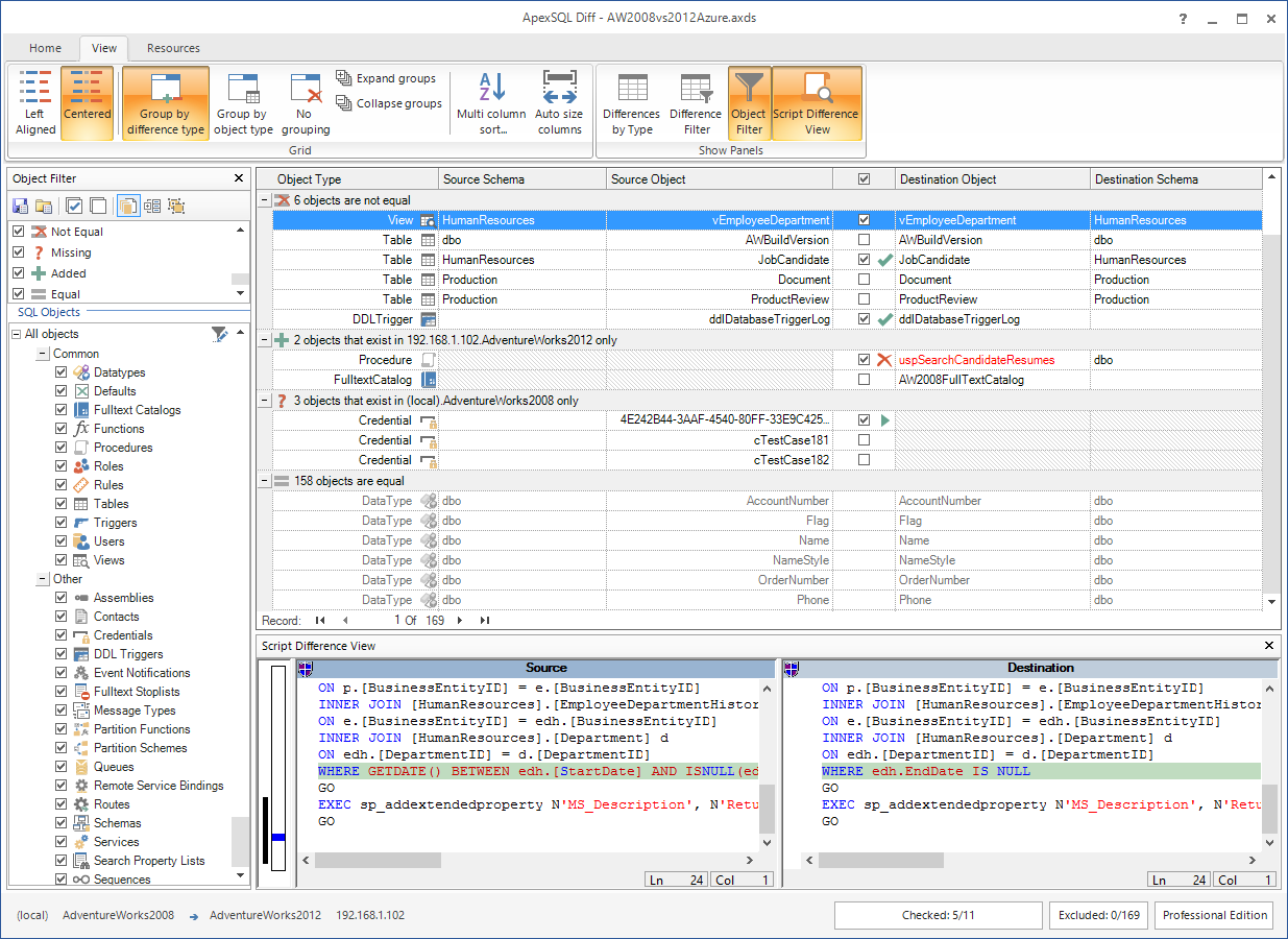SQL SERVER - SQL Server Schema Compare Tool image010
