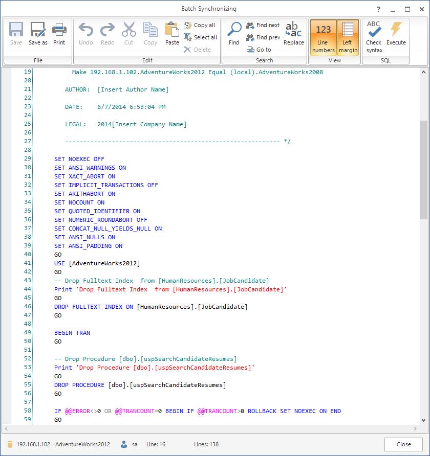 SQL SERVER - SQL Server Schema Compare Tool image017