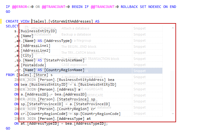 SQL SERVER – Free intellisense add-in for SSMS image005