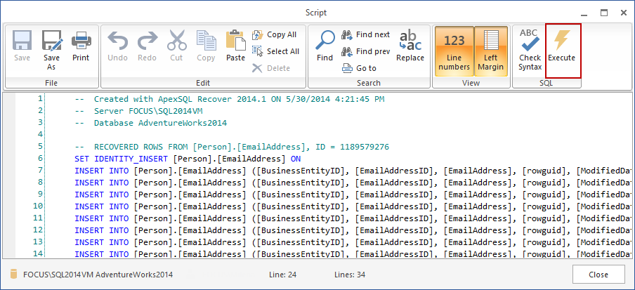 SQL SERVER - How to Recover SQL Database Data Deleted by Accident apexr10