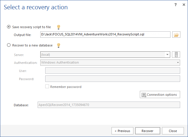 SQL SERVER - How to Recover SQL Database Data Deleted by Accident apexr8