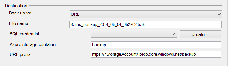 SQL SERVER - Backup to Azure Blob using SQL Server 2014 Management Studio azurebackups2