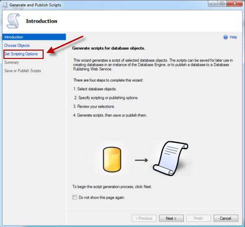 SQL SERVER - Generate Database Script for SQL Azure azurescript2