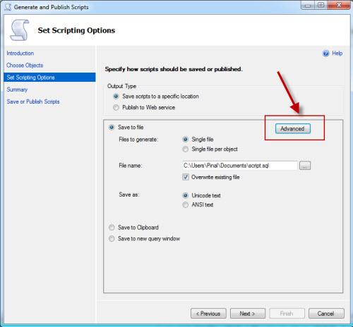 SQL SERVER - Generate Database Script for SQL Azure azurescript3