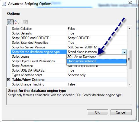 SQL SERVER - Generate Database Script for SQL Azure azurescript4