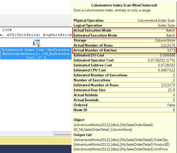 SQL SERVER - ColumnStore Index - Batch Mode vs Row Mode batchmode