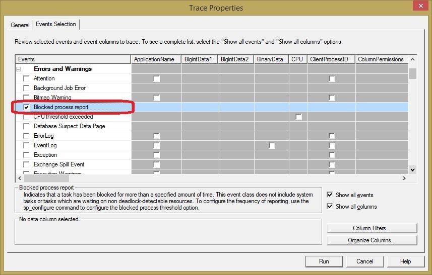 SQL SERVER - Find Blocking Using Blocked Process Threshold   blocked-process-2