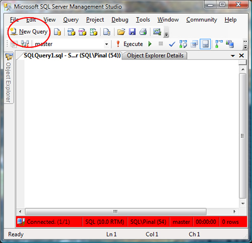 SQL SERVER - 2008 - Change Color of Status Bar of SSMS Query Editor color5