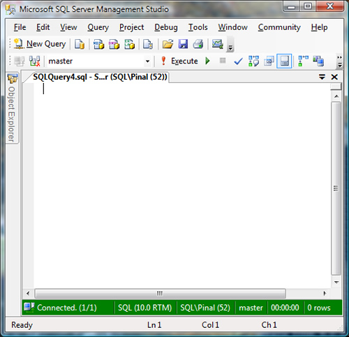 SQL SERVER - 2008 - Change Color of Status Bar of SSMS Query Editor color6