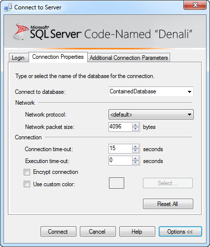 SQL SERVER - 'Denali' - A Simple Example of Contained Databases contained4