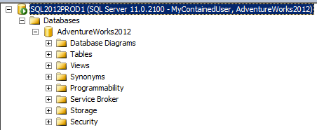SQL SERVER - Beginning Contained Databases - Notes from the Field #037 containeddb6
