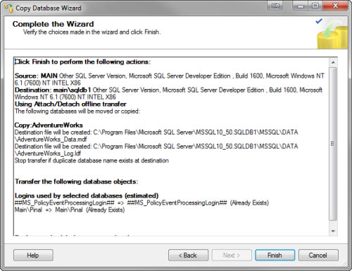 SQL SERVER - Copy Database from Instance to Another Instance - Copy Paste in SQL Server copywizard11