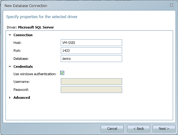 SQL SERVER - Import CSV into Database - Transferring File Content into a Database Table using CSVexpress database_connection2