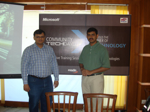 SQLAuthority News - Community TechDays in Ahmedabad - A Successful Event - Oct 3, 2009 CTD10
