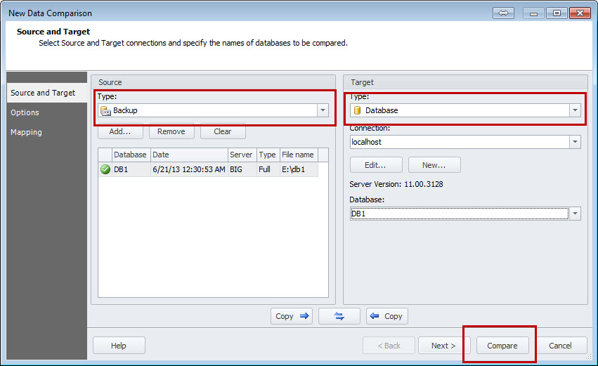 SQL SERVER - An Efficiency Tool to Compare and Synchronize SQL Server Databases datacomp3