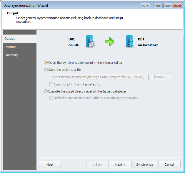 SQL SERVER - An Efficiency Tool to Compare and Synchronize SQL Server Databases datacomp5