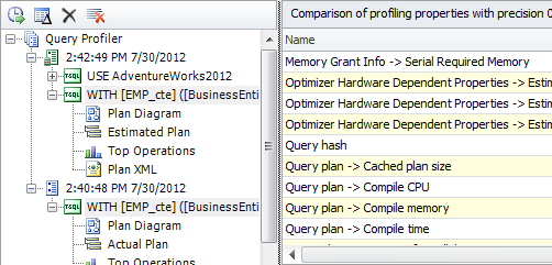 SQL SERVER - Development Productivity Tool - dbForge Studio for SQL Server query-profiler