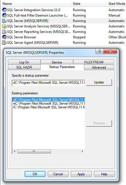 SQL SERVER - Denali - Improvement in Startup Options denaliStartup