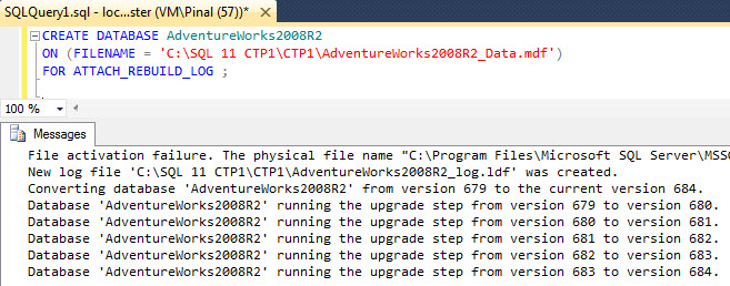 SQL SERVER - Installing AdventureWorks for SQL Server Denali denaliupgrade