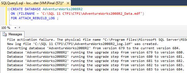 SQL SERVER - Installing AdventureWorks for SQL Server Denali denaliupgrade