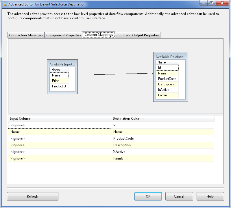 SQL SERVER - Using SSIS to Import CSV File into Salesforce Online Database with dotConnect for Salesforce from Devart 13