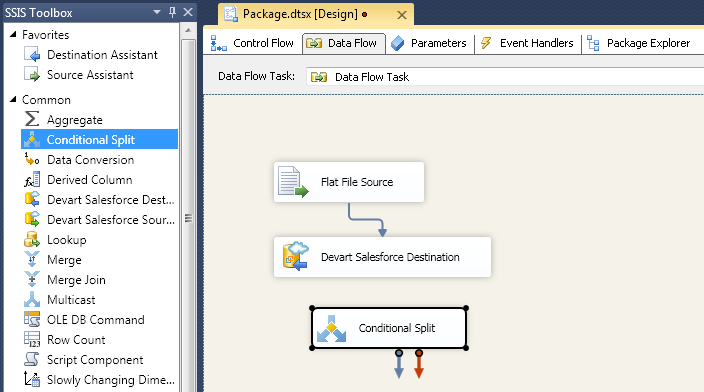 SQL SERVER - Using SSIS to Import CSV File into Salesforce Online Database with dotConnect for Salesforce from Devart 14
