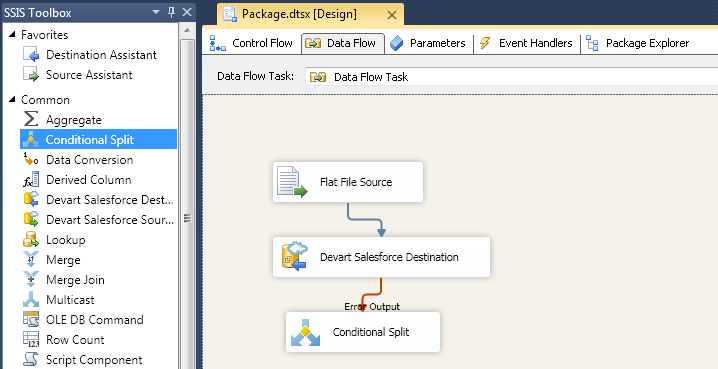 SQL SERVER - Using SSIS to Import CSV File into Salesforce Online Database with dotConnect for Salesforce from Devart 16