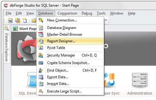 SQL SERVER - SQL Report Builder in dbForge Studio for SQL Server i01