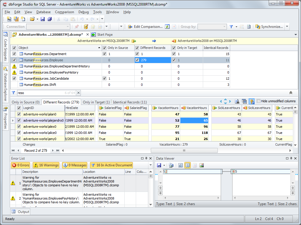 SQL SERVER - Synchronize Data Exclusively with T-SQL devartsync