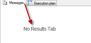 SQL SERVER - Discard Results After Query Execution - SSMS discard5