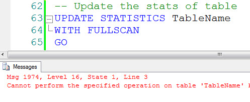 SQL SERVER - Disabled Index and Update Statistics disclu3