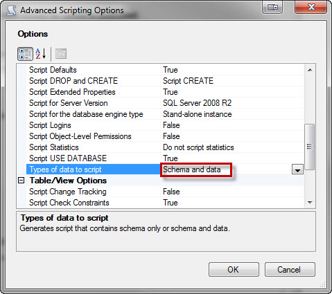 SQL SERVER - 2008 - 2008 R2 - Create Script to Copy Database Schema and All The Objects - Data, Schema, Stored Procedure, Functions, Triggers, Tables, Views, Constraints and All Other Database Objects dswizard5
