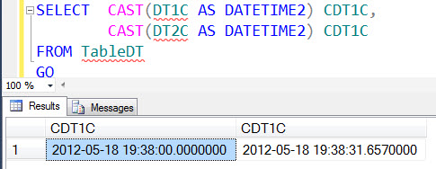 SQL SERVER - Saturday Fun Puzzle with SQL Server DATETIME2 and CAST dt3