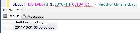 SQL SERVER - Denali - Date and Time Functions - EOMONTH() - A Quick Introduction eomonth5